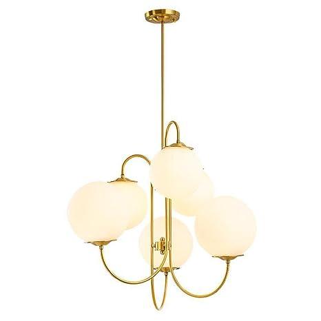 Araña de luces LED posmoderna Lámparas nórdicas Iluminación de bolas de cristal lámparas colgantes de restaurante