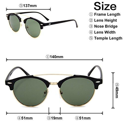 para Oscuro Verde sol de Gafas hombre AMZTM 61wfOvqc