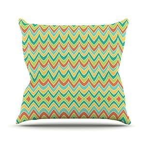 """KESS inhouse pg1032aop0318x 45,7""""POM Graphic Design Bright y Bold Cojín Manta de exterior, multicolor"""