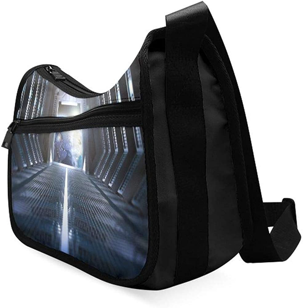 Magical Amazing Space Corridor Messenger Bag Crossbody Bag Large Durable Shoulder School Or Business Bag Oxford Fabric For Mens Womens