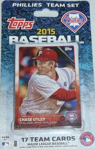 2015 Topps Philadelphia Phillies Factory Sealed Special Edition 17 Card Team Set with Ryan Howard Chase Utley (Team Set Ken)