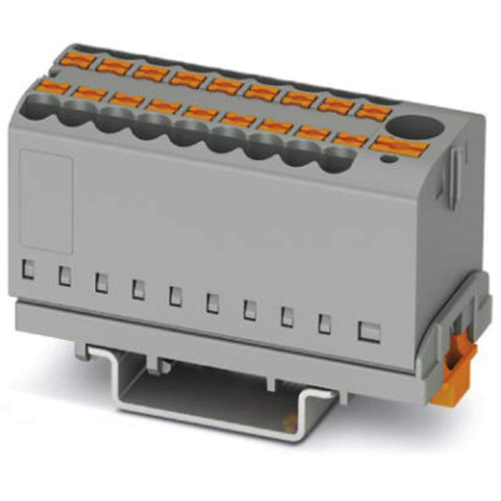 Distribution Block; with Vertical Alignment and Supply; 7 Connections; 500V; 24A - Pack of 20 by PHOENIX-CONTACT (Image #1)