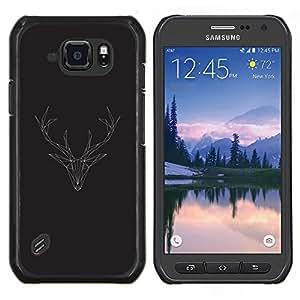 Stuss Case / Funda Carcasa protectora - Antlers Polygone de Noël - Samsung Galaxy S6Active Active G890A
