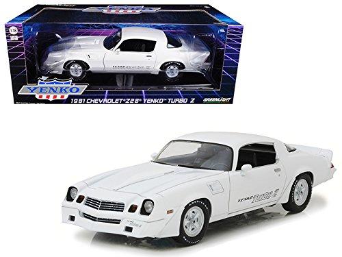 Camaro Yenko (Maisto 1981 Chevrolet Camaro Z/28 Yenko Turbo Z White 1/18 Model Car by Greenlight)