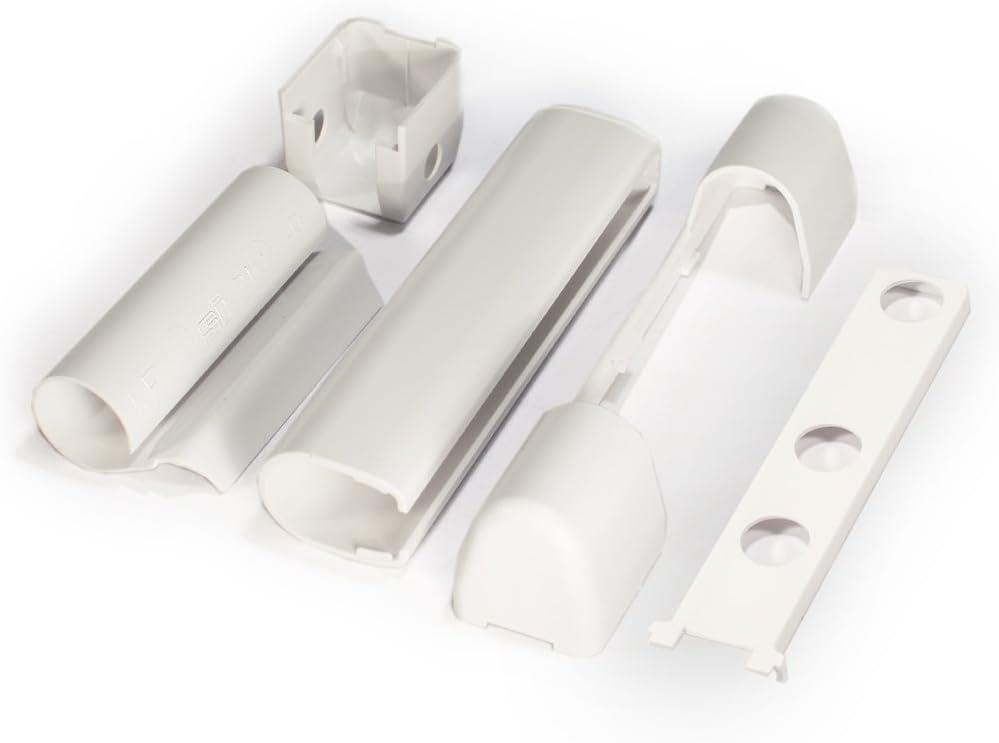 WEISS von Siegenia EL U W KF EL O PVC-Fenster und PVC-Kunststofft/ür Abdeckkappen-Set EB S
