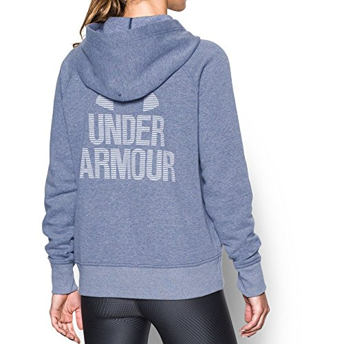 Under Armour Women's Favorite Fleece 1/2 Zip, Midnight Navy Light (411)/White, Large ()