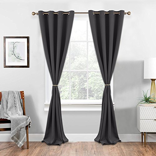 NICETOWN Cotton Tie-backs Holdbacks for Drapes - Indoor Outdoor Curtains Hand Knitting Window Draperies Ropes (Satin Gold, 30 inches Length, Set of 2)