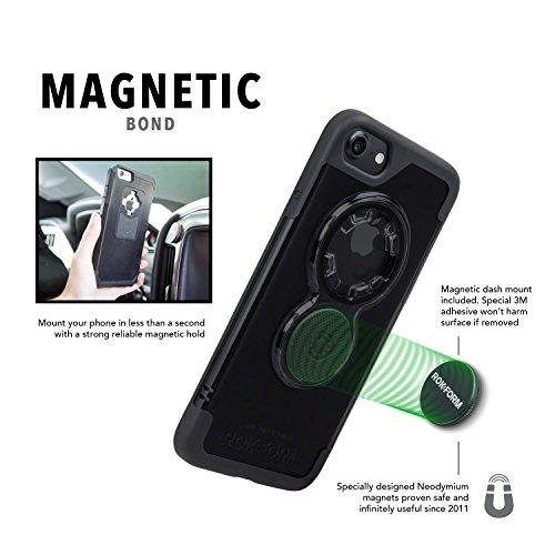 Rokform Krystal Sport Schutzhülle für Apple iPhone 7 mit Magnetic Auto-Halterung schwarz/klar