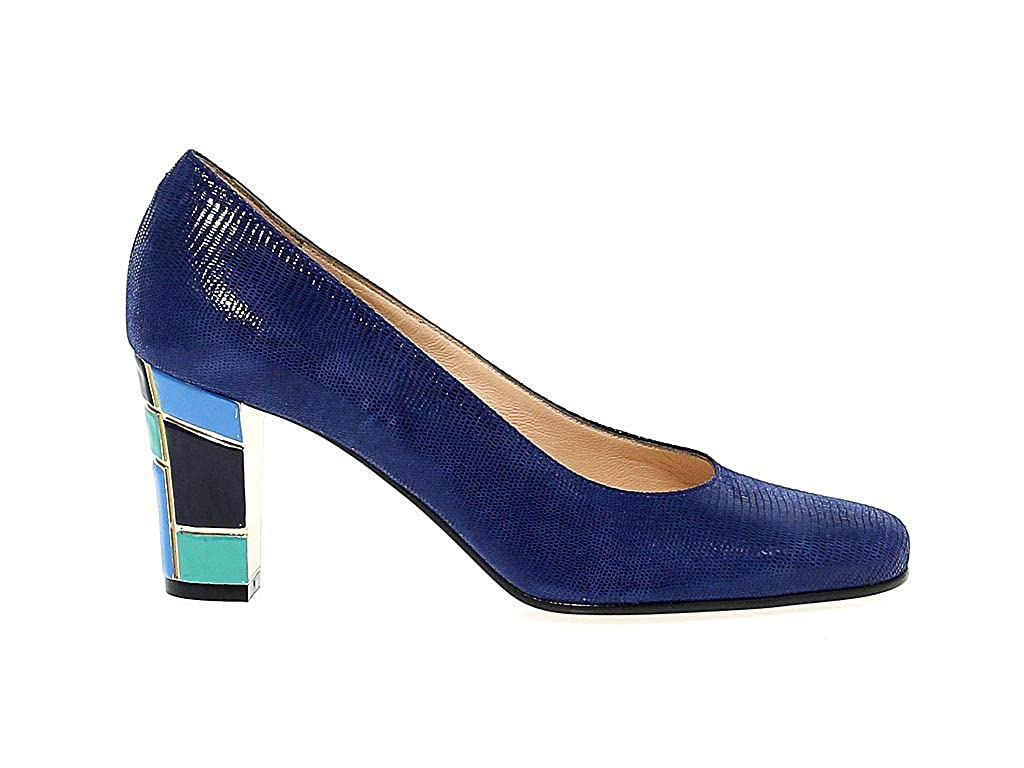 - MARTINA Women's MART15060 bluee Leather Pumps
