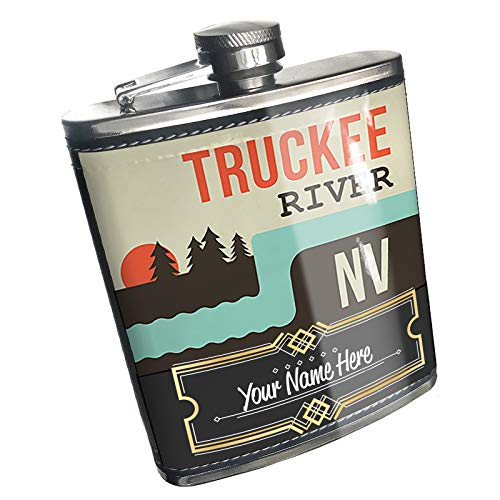 Neonblond Flask USA Rivers Truckee River - Nevada Custom Name Stainless Steel