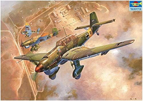 トランペッター 1/24 ドイツ空軍 ユンカース Ju-87B-2 シュトゥーカ プラモデル 02421