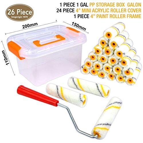 - SUPER VALUE 26 Piece Multi-Use 4 inch Premium,Mohair mini paint roller,paint roller,roller frame,