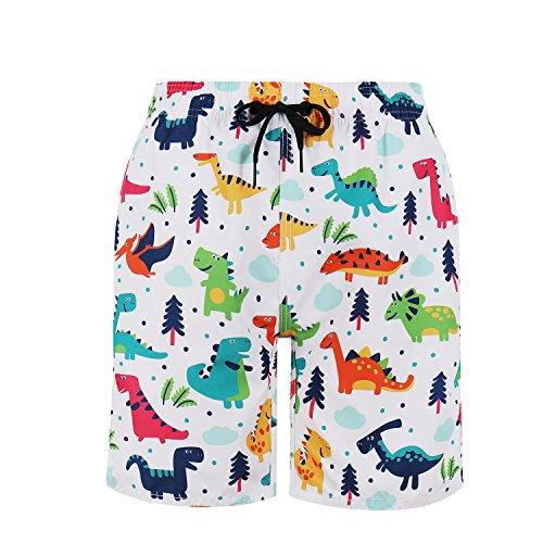 Milankerr Big Boys' Swim Trunks Size 6-20 (S / 6-8, Dinosaur) for $<!--$9.99-->