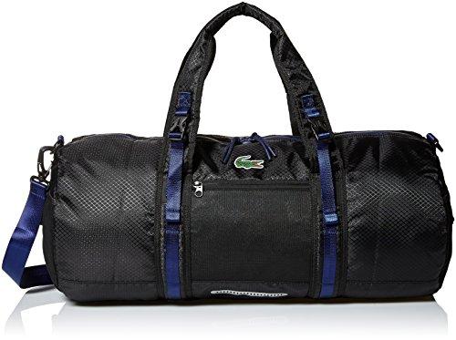 Lacoste Men's Match Point Roll Bag, Black/Blue Depths