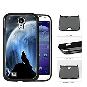 Wolf Howling On Hilltop With Full Moon Hard Plastic Snap On Cell Phone Case Samsung Galaxy S4 SIV I9500