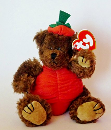 Ty Attic Treasures - Peter the Halloween Pumpkin Teddy Bear (Halloween Pumpkin Teddy Bear)