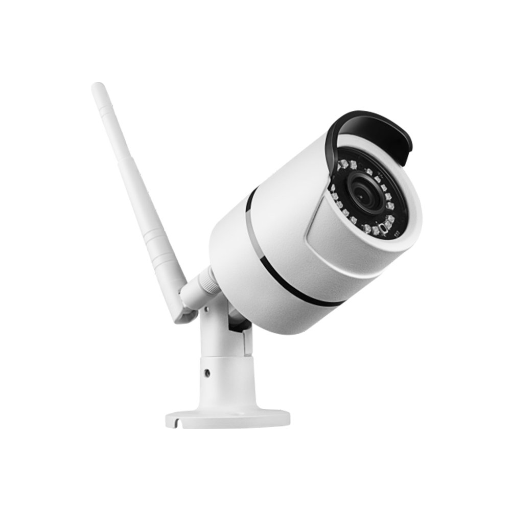 Outdoor Security Camera - WiFi Waterproof Surveillance System - Wireless IP Camera - FHD 1080P - Night Vision - White