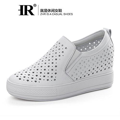 Hueco Interno Gao Lefu Zapatos En Verano,Jurchen Plataforma Zapatos De Cuero,Estilo Coreano Blanco Zapatitos,Mujeres Casuales Zapatos Del Estudiante A