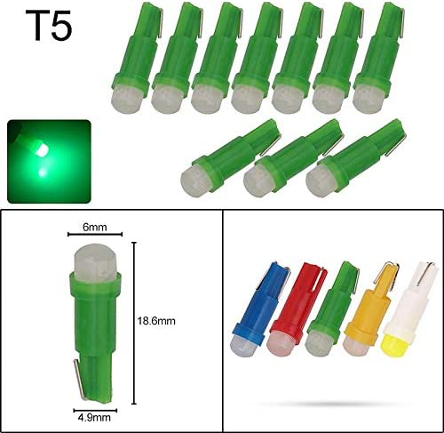 NO LOGO XFC-Bombillas, Leds Bulbo COB 10x T3 LED T4.2 T4.7 B8.5 T5 LED de luz de Coches Cluster Indicadores de Controles Instrumentos Panel Climático Base luz de la lámpara: Amazon.es: Hogar