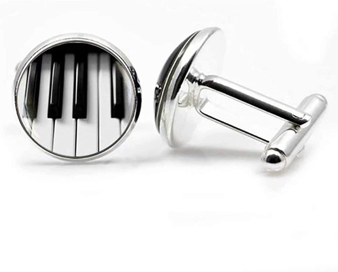 Handcrafted Piano Keys Cuff links
