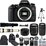 Canon EOS Digital Rebel T6s 24.2MP SLR Digital Camera with Canon EF-S 18-55mm IS Lens + Canon 75-300mm Zoom Lens + Canon EF 50mm f/1.8 II Lens + 500mm Preset Telephoto Lens + 650-1300mm Zoom Lens