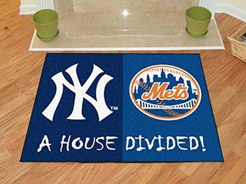 Fanmats New York Mets House Divided Rugs