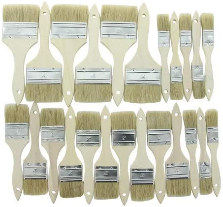 GAM BB12324 24pc Chip Brush Set for Chalk Paint