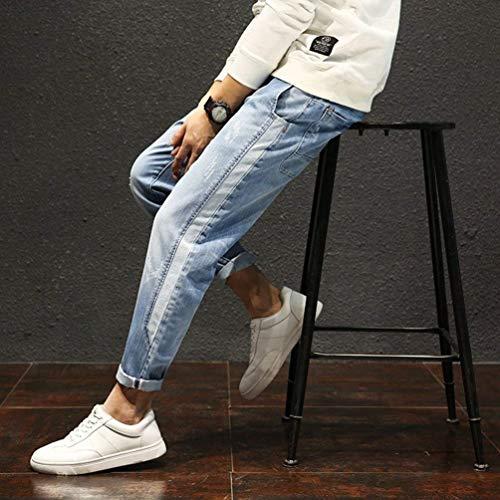 Denim Dei Moda Elastici Pants Jeans Casual Men Skinny Pantaloni Lichtblau In Epantaloni D'epoca Harem qwZZt8z