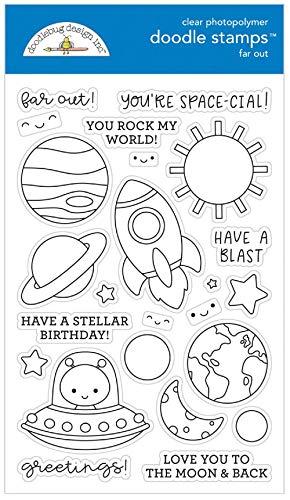 Doodlebug Clear Doodle Stamps-far Out