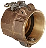 Dixon BD300EZ Brass EZ Boss-Lock Type D Cam and Groove Hose Fitting, 3'' Socket x 3'' NPT Female