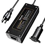 AstroAI AC to DC Converter, 10A 120W 110-220V to 12V Car Cigarette Lighter Socket AC DC Power Supply Adapter for Air Compressor Tire Inflator and Other 12V Devices Under 120W, Black