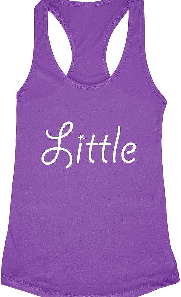 Little Design for Your New Little Racerback Tank Top Womens Big Little Sorority Reveal