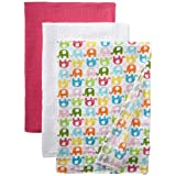 i play. Unisex Baby Newborn Organic Muslin Blanket 3 Piece Gift Set