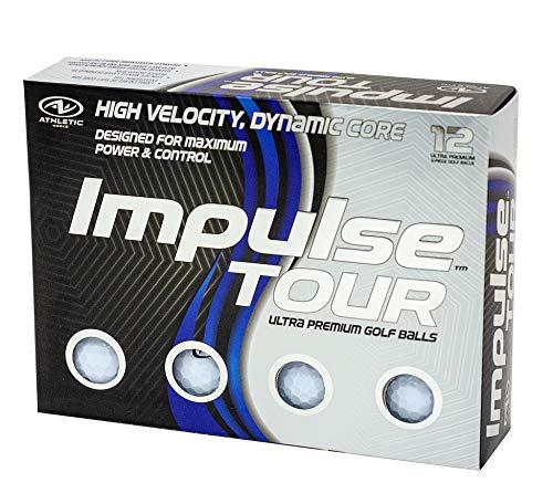 Bolas de golf Impulse Tour, blancas, paquete de 12
