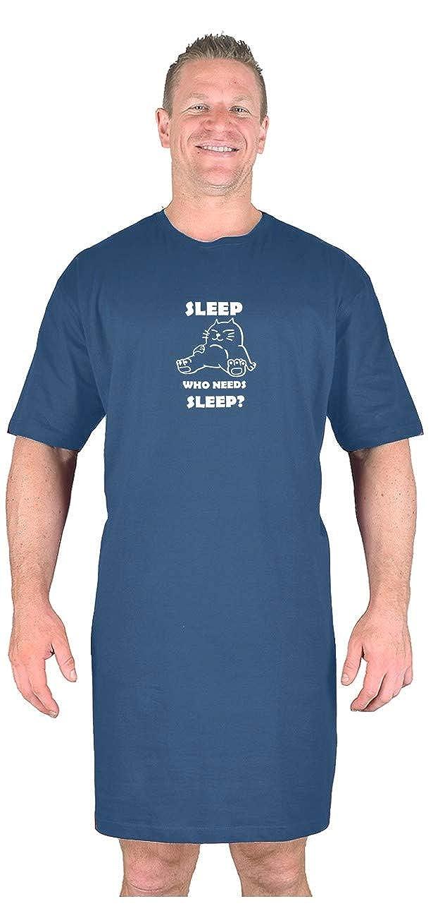Big Mens Navy BTS Not Snore Nightshirt L XL 2XL 3XL 4XL 5XL 6XL 7XL 8XL