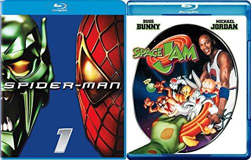 Looney Toons Space Jam & Spider-Man Super Hero Team Double Feature set