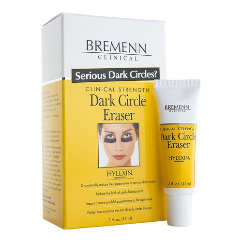 BREMENN CLINICAL Hylexin Dark Circle Eraser- Improves Skin by Toning and Smoothing Skin Around the Eyes, Addresses Removes Unsightly Dark Spots, Under Eye Bags, Puffy Eyelids, (0.5 oz)
