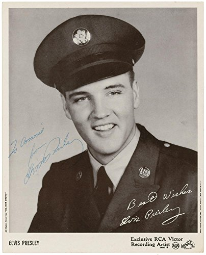 Elvis Presley Autographed Signed 8 x 10 Reprint Photo - U.S. Army (Elvis Autograph)