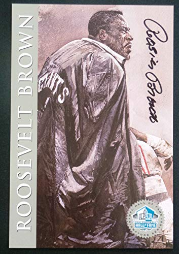 PRO FOOTBALL HALL OF FAME Roosevelt Brown 1998 Platinum Signature Series NFL New York Giants HOF Signed Autograph Limited Edition Card