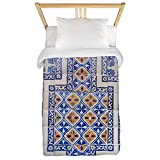 CafePress - Mexican Tilework Twin Duvet - Twin Duvet Cover, Printed Comforter Cover, Unique Bedding, Microfiber