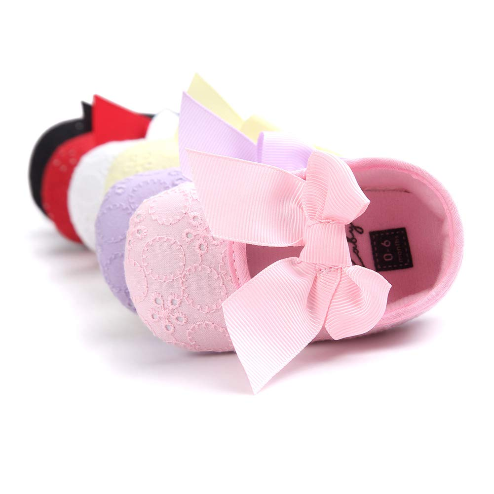 Alamana Lovely Bowknot Infant Baby Girl Princess Soft Sole Prewalker Toddler Shoes Gift Red 13cm