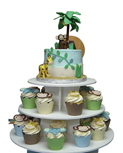 The Smart Baker 5 Tier Round Cupcake Stand PRO- Holds 90+ Cupcakes As Seen on Shark Tank Professional Cupcake Tower by The Smart Baker (Image #3)
