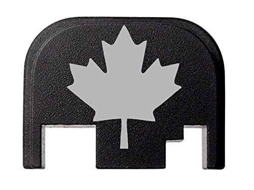 NDZ Performance for Glock 17 19 21 22 23 27 30 34 36 41 Rear Plate Blk G1-4 Canadian Maple Leaf