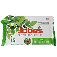 Jobe's Tree Fertilizer Spikes, 16-4-4 Time Release Fertilizer for All Shrubs & Trees, 15 Spikes per Package