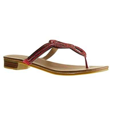Sandale Salomés Slip Chaussure Perle Mode On Tong Angkorly Femme WDE2I9HY