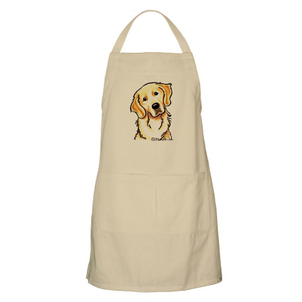 CafePress - Golden Retriever Portrait Apron - Kitchen Apron with Pockets