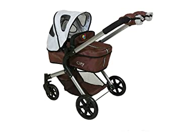 DeCuevas City Doll Pram and Stroller with 3 x 1 Carry Cot and ...