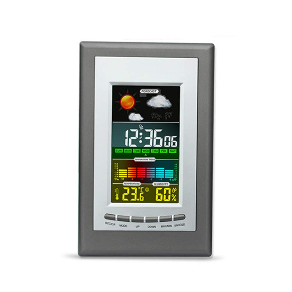 Digital Hygrometer Barometer Thermometer Hygrometer Snooze Function Backlit Function Large Color LCD Display Screen Weather Station for Home by Lin-Tong