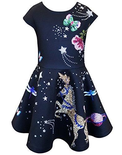 Hannah Banana Big Girls Tween Embellished Party Dress, 7-16 (10, Black-Multicolor) (Dance Dresses For Tweens)