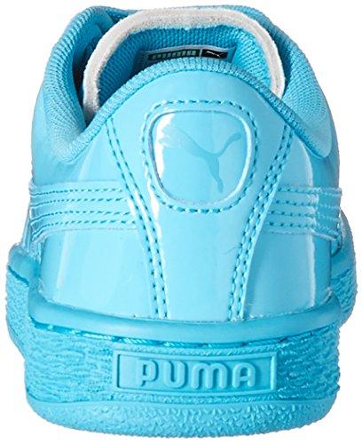 Puma Basket Classic Patent Synthetik Turnschuhe Blue Atoll-Blue Atoll